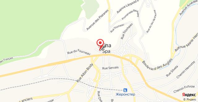 Radisson BLU Palace Hotel на карте