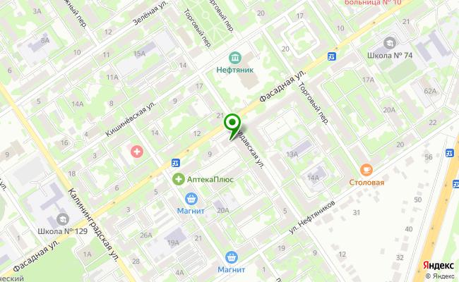 Сбербанк Самара Куйбышевский район, ул. Фасадная 11 карта