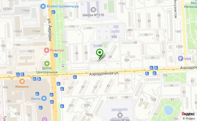 Сбербанк Самара Советский район, ул. Аэродромная 50 карта
