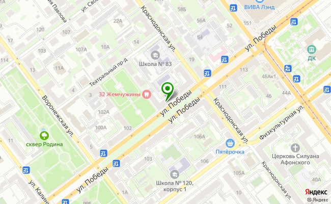 Сбербанк Самара Промышленный район, ул. Победы 104 карта