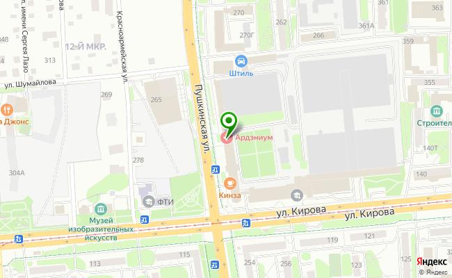 Сбербанк Ижевск ул. Пушкинская 268 карта