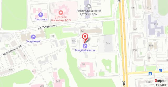 Санаторий Голубой Вагон на карте
