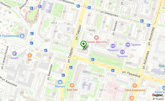 Сбербанк Уфа ул. Пушкина 43 карта
