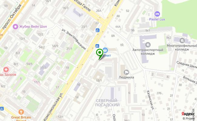 Сбербанк Уфа ул. Комсомольская 18 карта