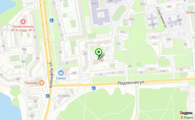 Сбербанк Пермь ул. Подлесная 3Б карта