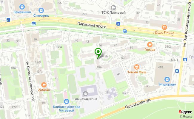 Сбербанк Пермь проспект Парковый 40А карта
