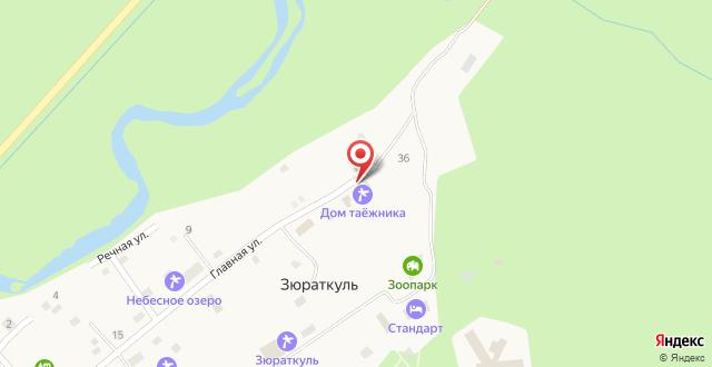 Дом для отпуска На озере Зюраткуль на карте