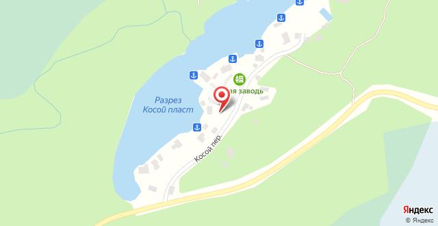 Клуб отдыха Тихая Заводь на карте
