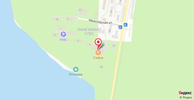 Семейный курорт Утес на карте