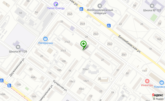 Сбербанк Екатеринбург ул. Билимбаевсая 31/1 карта