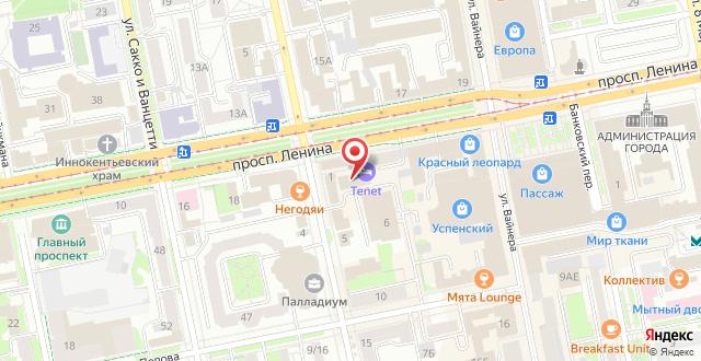 Отель TENET на карте