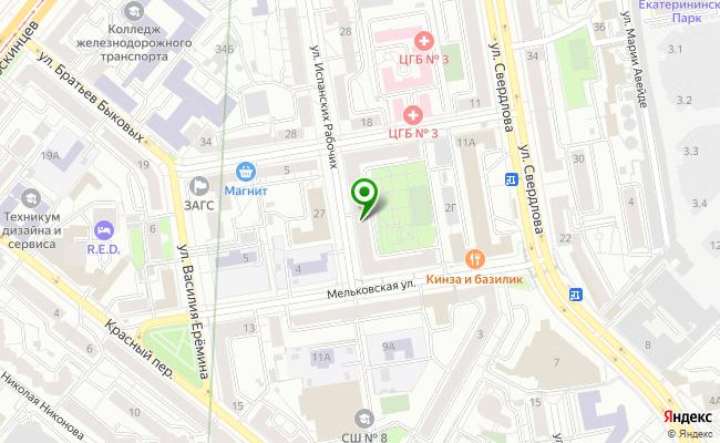 Сбербанк Екатеринбург ул. Мельковская 2, корп.Б карта
