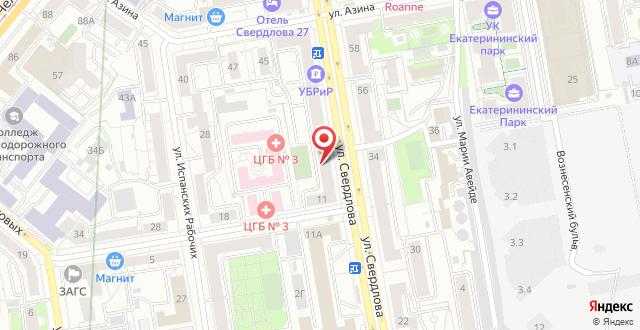 Хостелы Хостелы Рус-Екатеринбург на карте