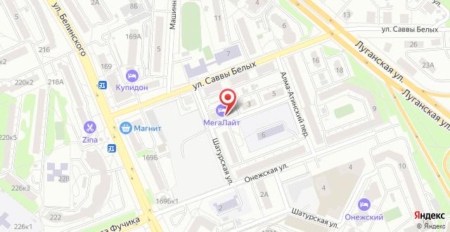 Отель МегаЛайт на карте