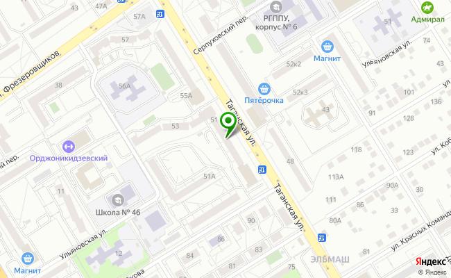 Сбербанк Екатеринбург ул. Таганская 51 карта