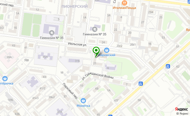 Сбербанк Екатеринбург ул. Июльская 21 карта