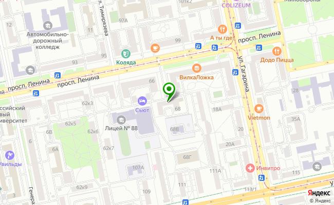 Сбербанк Екатеринбург проспект Ленина 68 карта