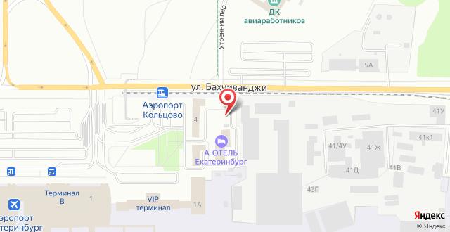 Отель Лайнер на карте
