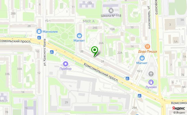 Сбербанк Челябинск проспект Комсомольский 24 карта