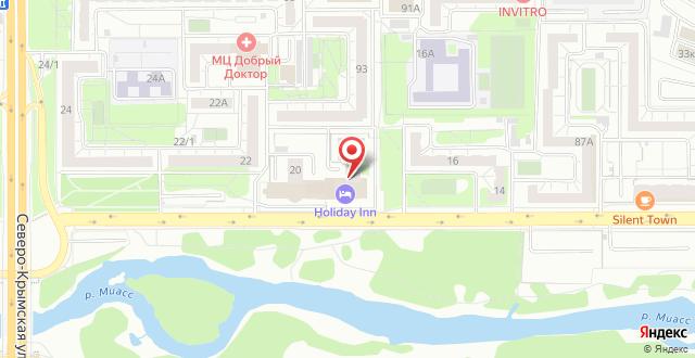 Гостиница Holiday Inn Chelyabinsk на карте