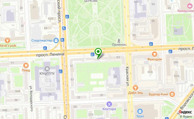 Сбербанк Челябинск проспект Ленина 65 карта