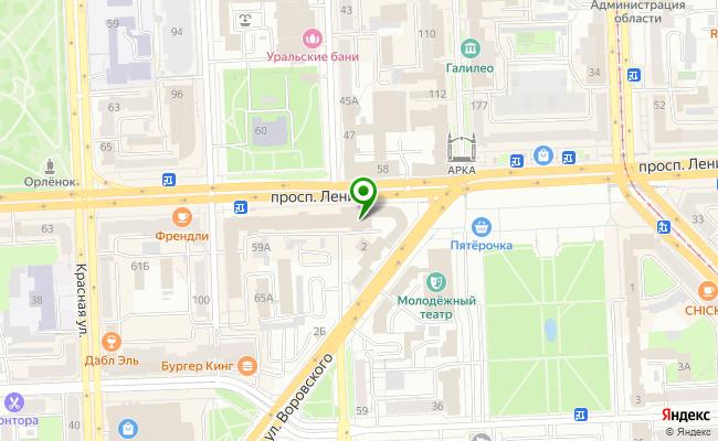 Сбербанк Челябинск проспект Ленина 55А карта
