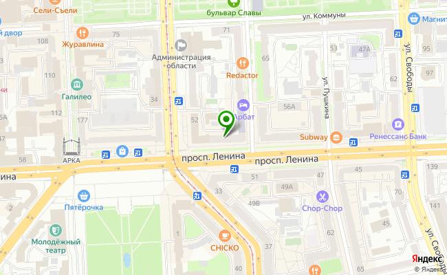 Сбербанк Челябинск проспект Ленина 52 карта