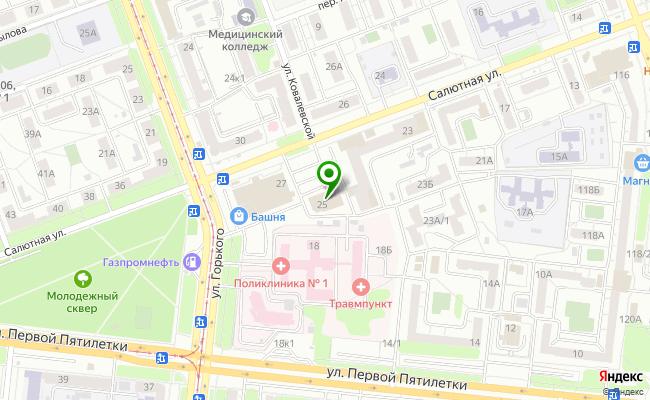 Сбербанк Челябинск ул. Салютная 25 карта