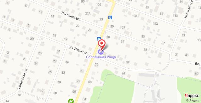 Гостиница Соловьиная роща на карте