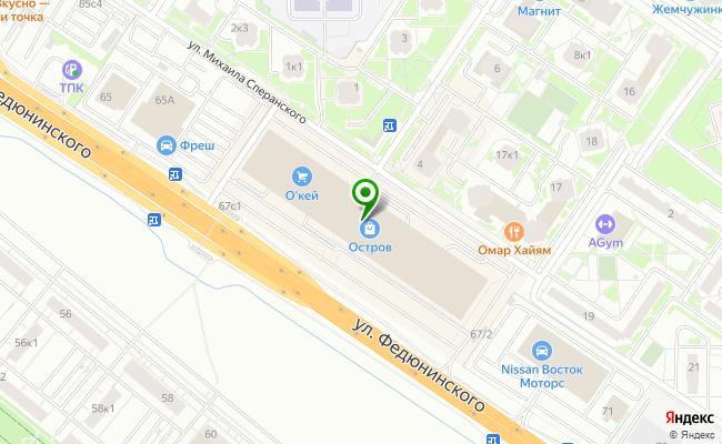 Сбербанк Тюмень ул. Федюнинского 67 карта