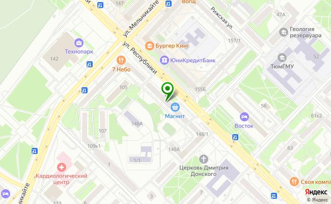Сбербанк Тюмень ул. Республики 146/2 карта