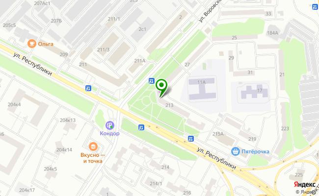 Сбербанк Тюмень ул. Республики 213/6 карта