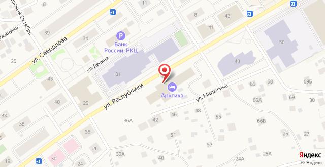 Гостиница Арктика на карте