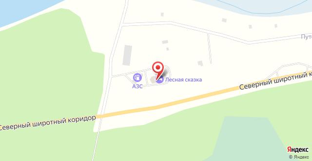 Мини-отель Лесная на карте