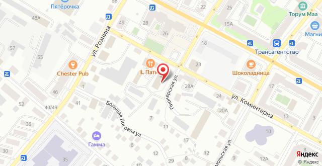 Гостиница Территория Первых на карте