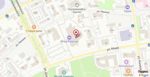 Отель КТЦ Югра-Классик на карте