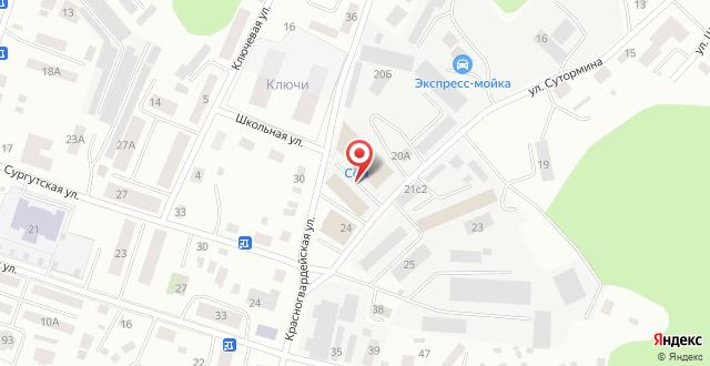 Мини-отель На Сутормина 20 на карте