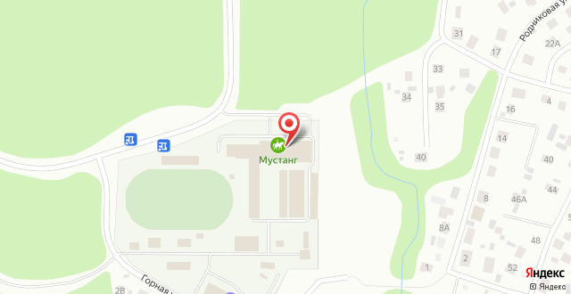 Гостиница Мустанг на карте
