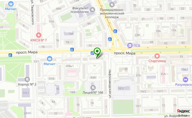 Сбербанк Омск проспект Мира 43 карта