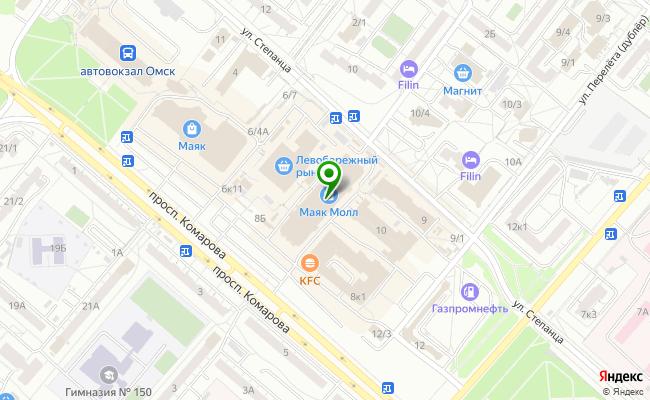Сбербанк Омск проспект Комарова 6, корп.1 карта