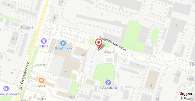 Гостиница У Адамовича на карте