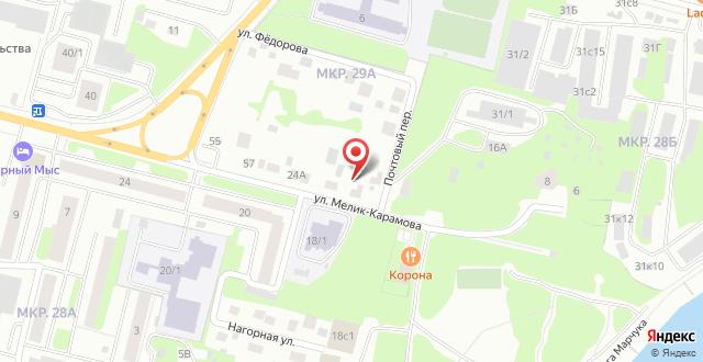 Гостиница Сургут на карте