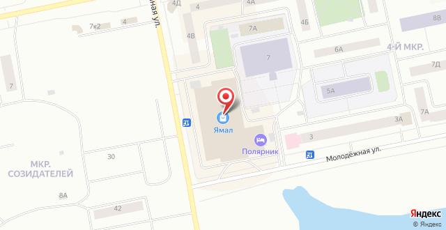 Гостиница Ямал на карте