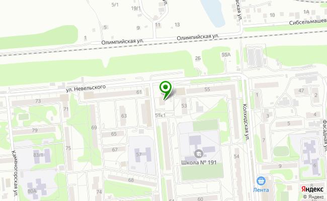 Сбербанк Новосибирск ул. Невельского 57/1 карта