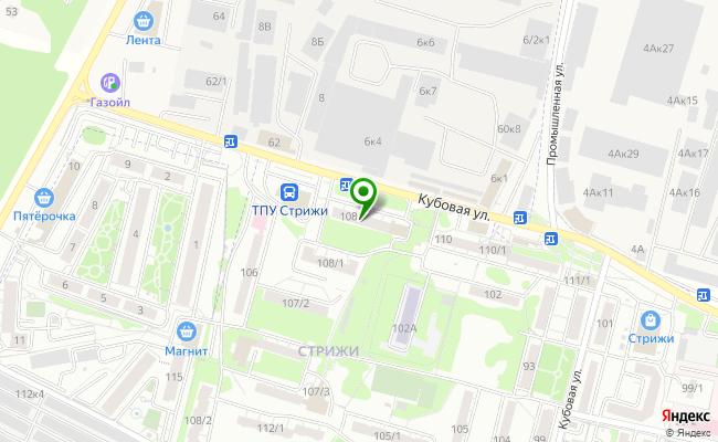 Сбербанк Новосибирск ул. Кубовая 108 карта