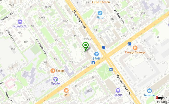 Сбербанк Новосибирск ул. Дуси Ковальчук 75 карта