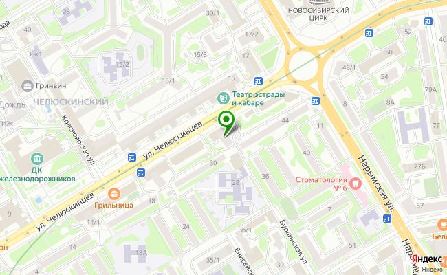 Сбербанк Новосибирск ул. Челюскинцев 30/1 карта