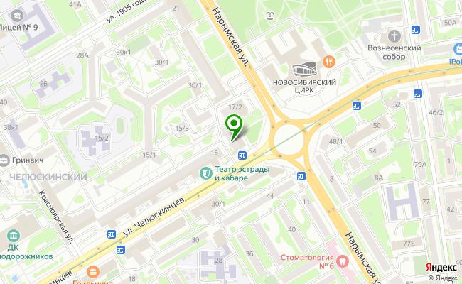 Сбербанк Новосибирск ул. Челюскинцев 17 карта