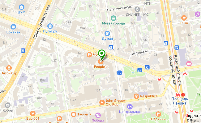 Сбербанк Новосибирск ул. Вокзальная магистраль 16 карта