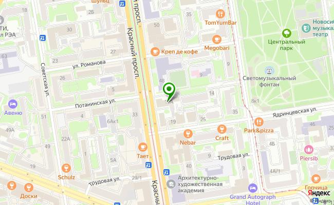 Сбербанк Новосибирск ул. Красный проспект 46 карта